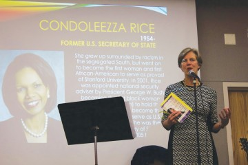 Vice Chancellor of Student Development Cindy Wallace was the MWLC's guest speaker.  Halle Keighton | The Appalachian