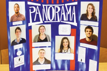 At Panaorama, seven students gave talks on various topics that they were passionate about. A poster boardin the Blue Ridge Ballroom showcased the speakers and provided information about their topics.