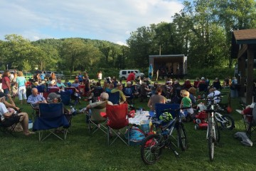 Every Friday at 7 p.m. from May to September, 200-300 people come and listen to the band for that week's Music in the Valle concert series.