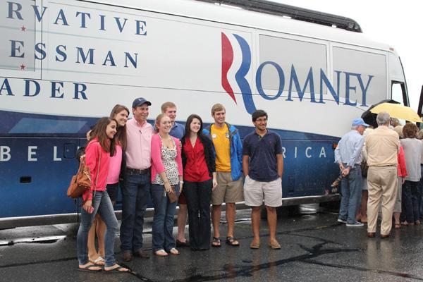 Romney/Ryan bus stops at Watauga GOP