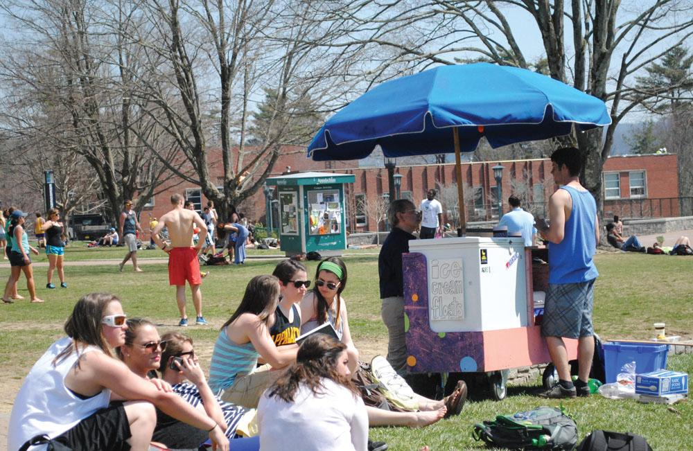 Fizzy Pops will no longer be allowed on Sanford Mall. It is run by junior marketing and entrprenuership major Ethan Peverall and combines soda with ice cream to create students favorite flavors. Nicole Debartolo | The Appalachian