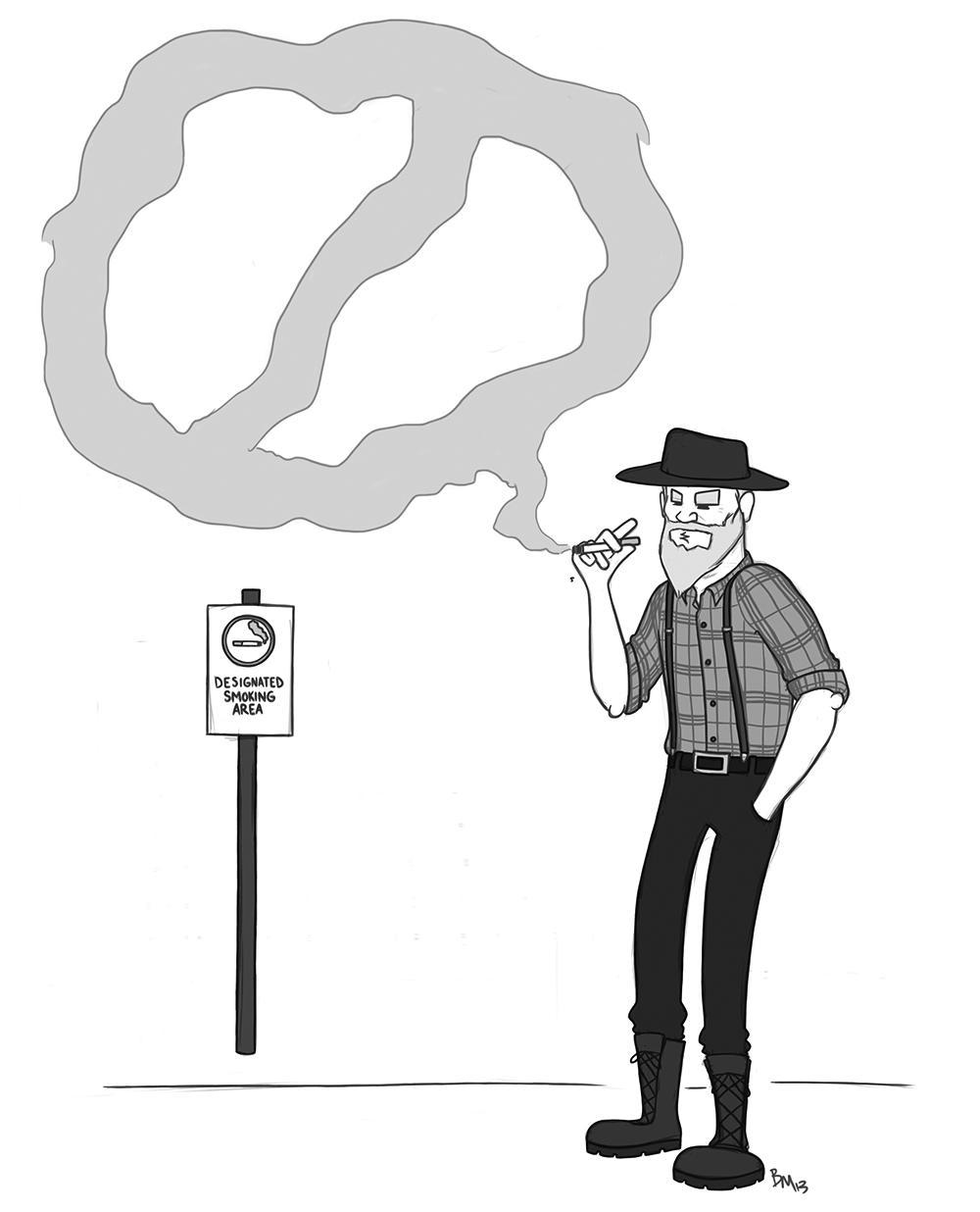 Editorial Cartoon Blowing Smoke The Appalachian