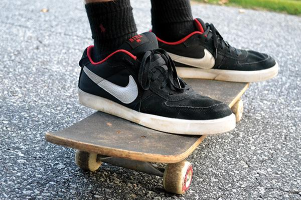 SGA is advocating for the Town of Boone to lift the ban on skateboards, saying that lifting the ban would help the university in its goal to become more sustainable. Photo by Lacy Matusek | The Appalachian