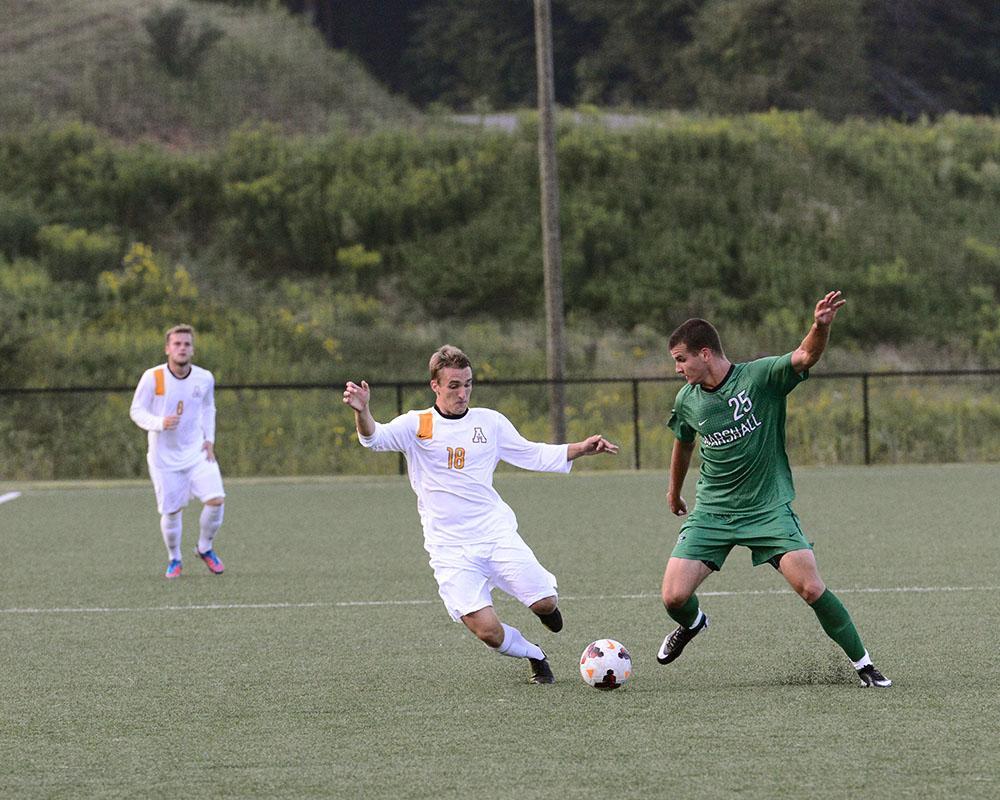 Men's soccer ties home opener