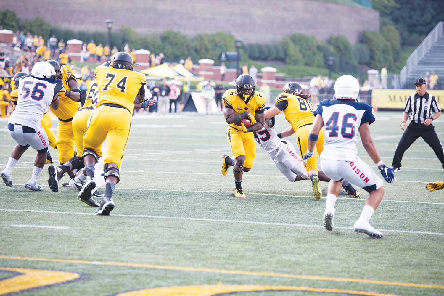 Offensive line spearheads strong running game