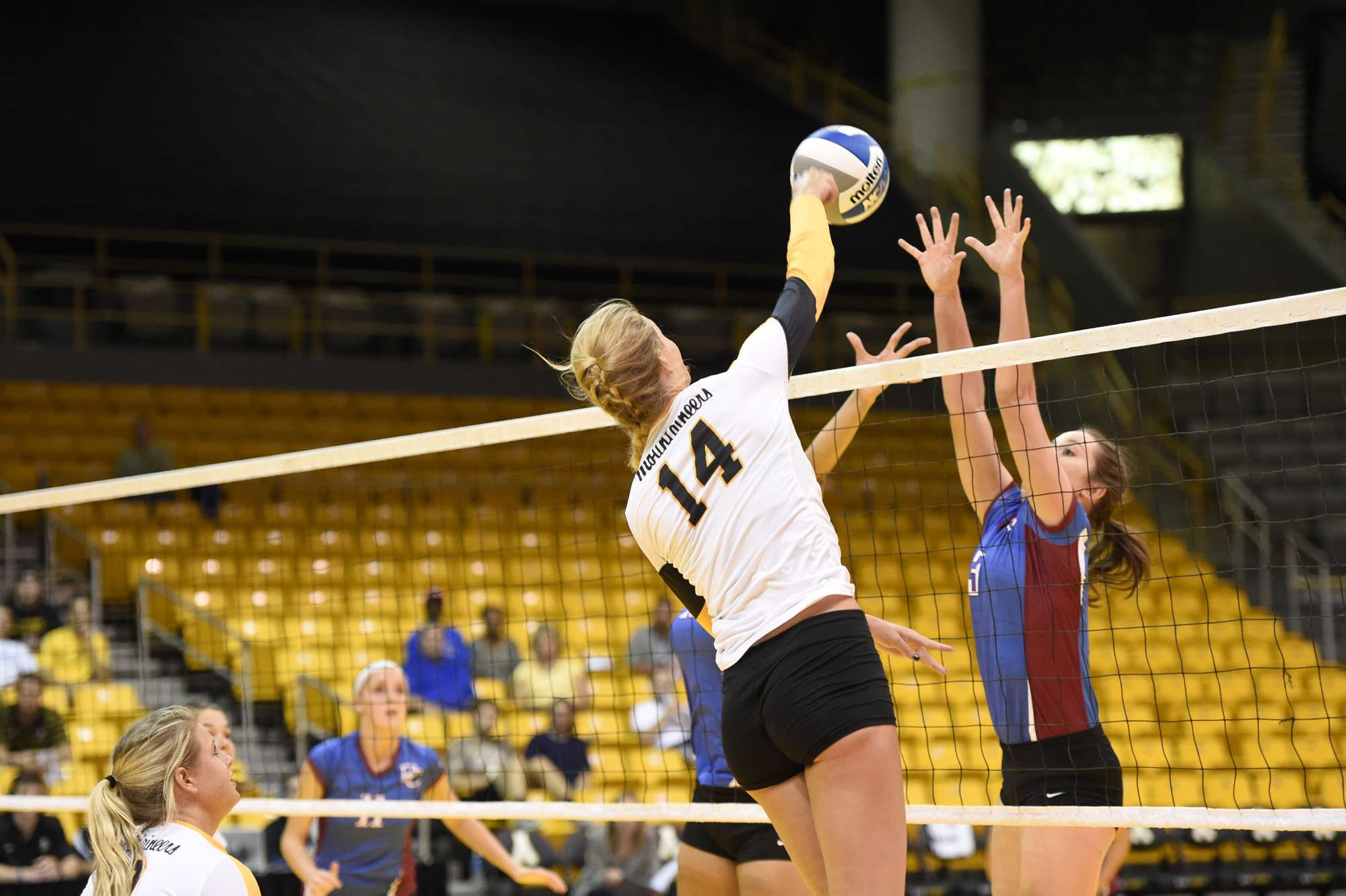 Former+App+State+middle+blocker+Lauren+Gray+goes+up+for+the+attack+during+last+year%E2%80%99s+home+game+against+Presbyterian.+Gray%2C+who+finished+fifth+in+conference+hitting+percentage+%28.314%29%2C+%0Agraduated+last+year.+