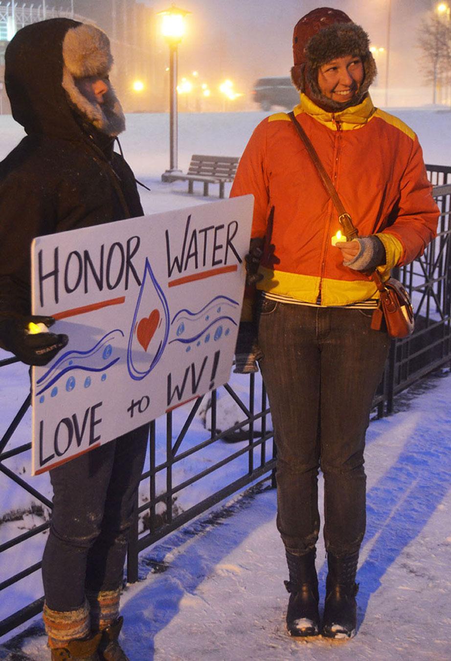 Vigil held for W. Va. spill victims