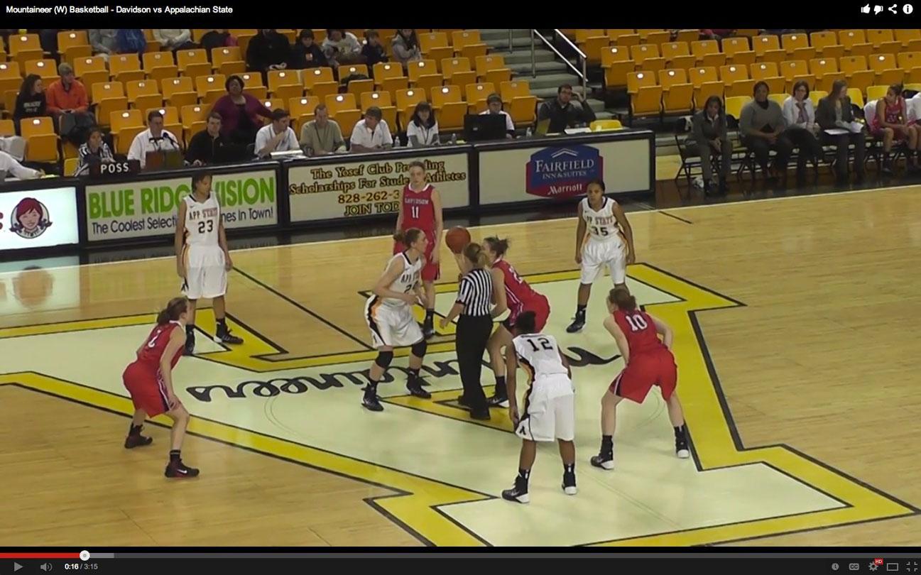 Mountaineer (W) Basketball - Davidson vs Appalachian State