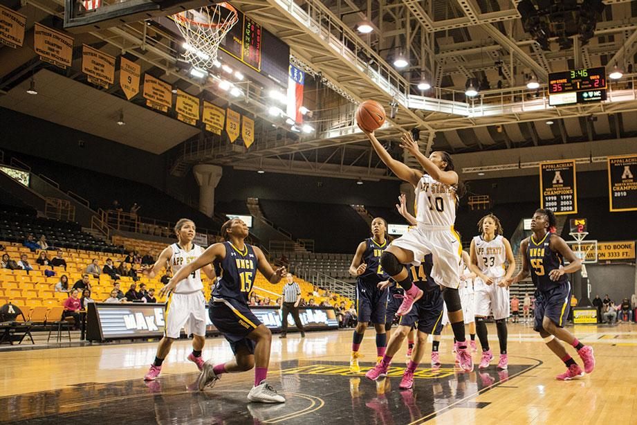 Women's basketball downs UNCG in PLay 4Kay game