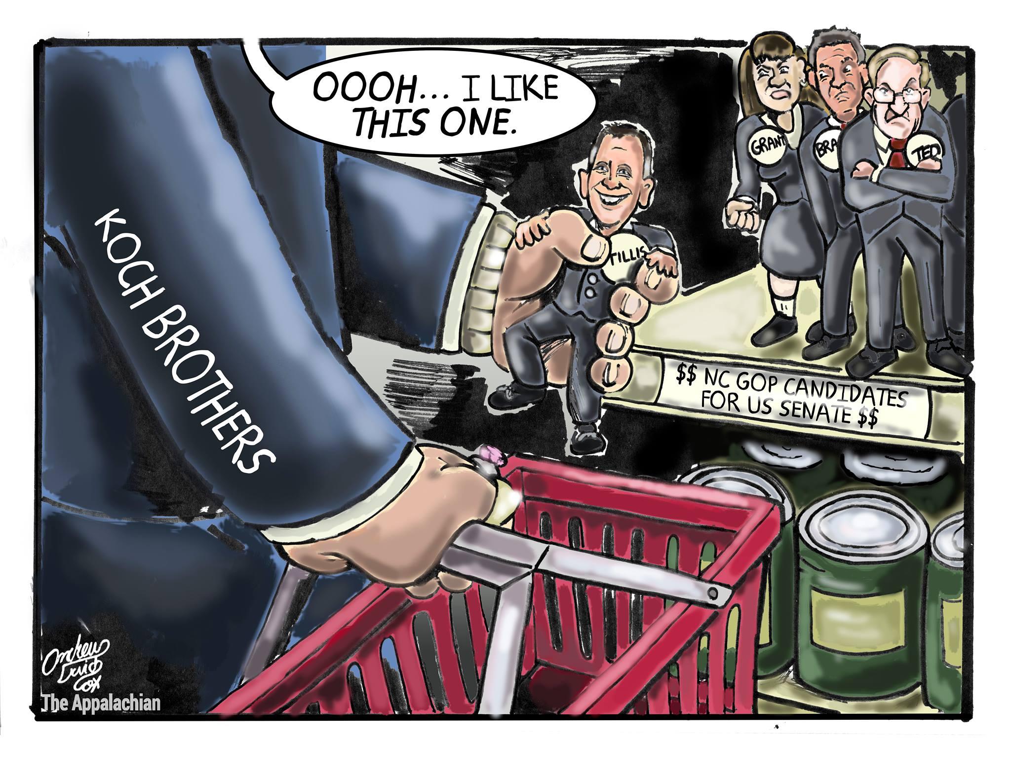 Koch brothers shopping for senators