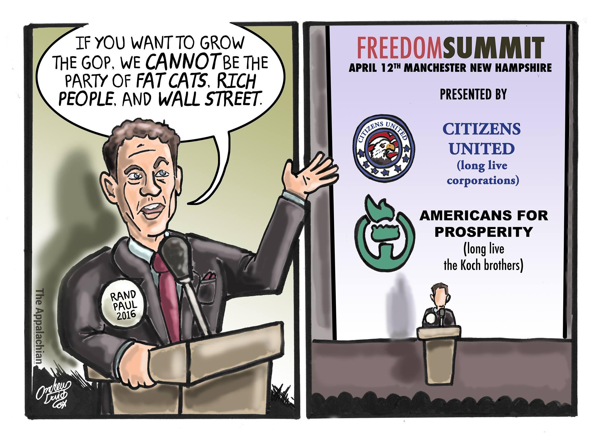 Cartoon by Andrew Cox, Editorial Cartoonist