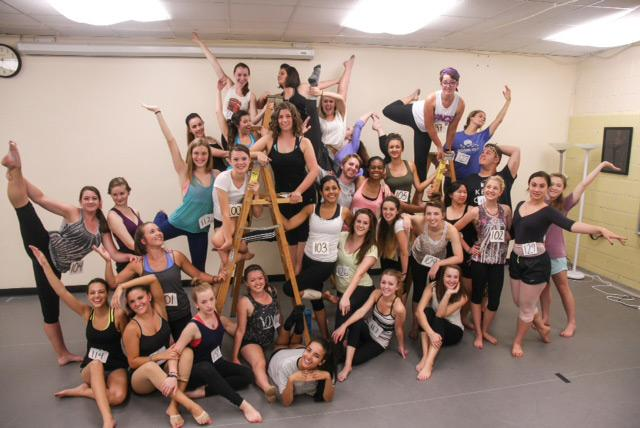 Freshmen dance majors who are members of the Appalachian Department of Dance and Theatre and are to be included in the First Year Student Showcase beginning on Thursday in the I.G. Greer Studio Theatre. Courtesy of Appalachian Department of Dance and Theatre