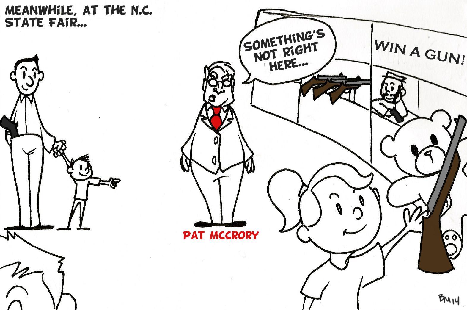 Editorial cartoon: Guns at state fair
