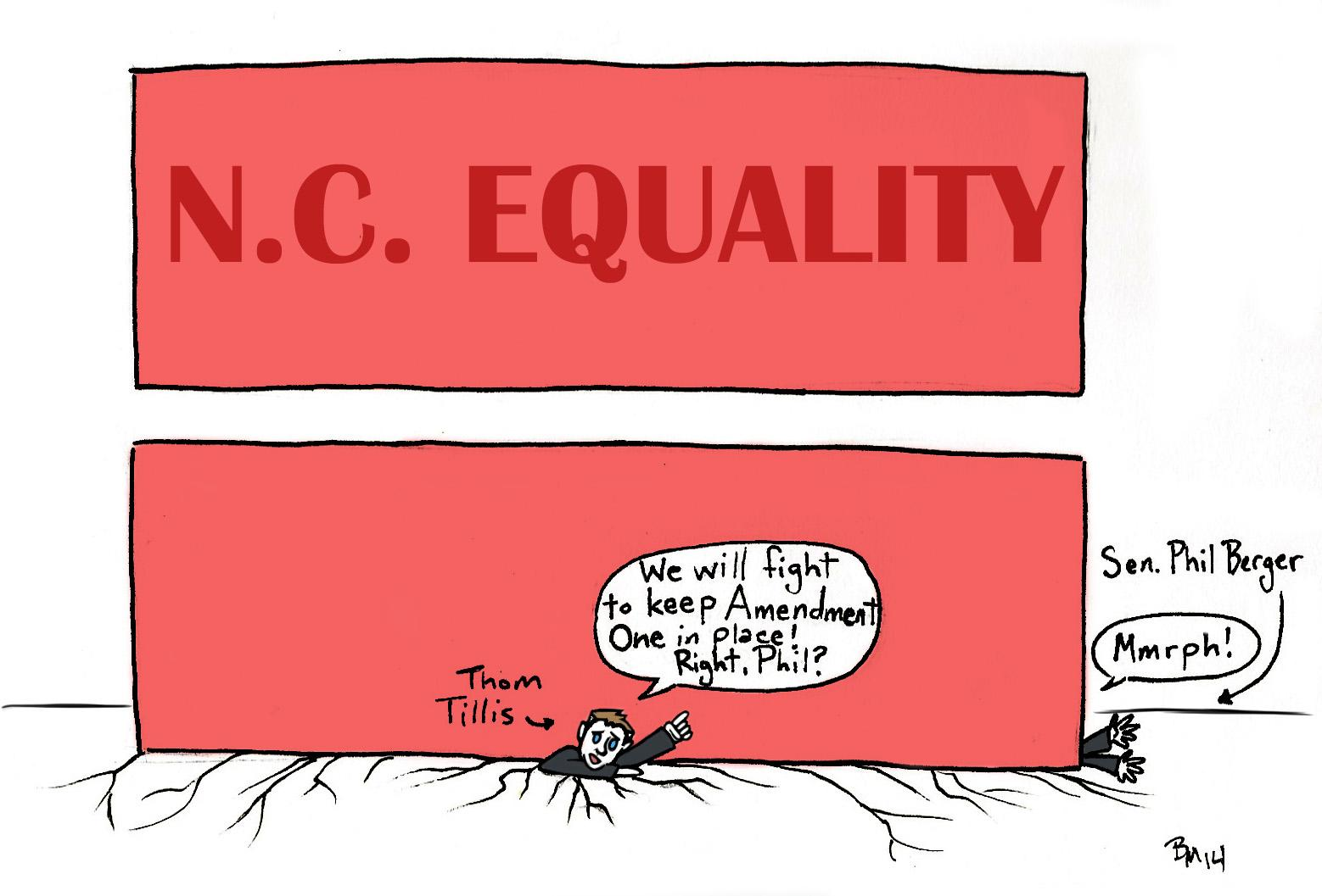 Editorial cartoon: NC marriage equality
