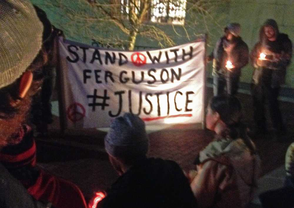 Community+members+gathered+on+King+Street+for+a+solidarity+protest+surrounding+the+events+in+Ferguson%2C+Missouri.+Photo+by+Laney+Ruckstuhl++%7C++The+Appalachian