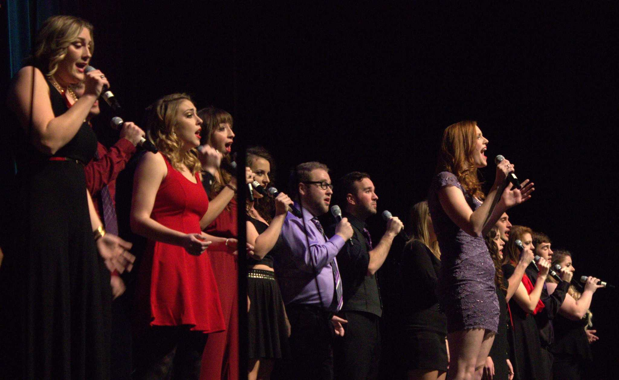 A+cappella+group+Enharmonix+performs+at+Acappellageddon+Sunday+night+at+the+Schaefer+Center+for+the+Performing+Arts.+Photo+by+Maggie+Davis++%7C++The+Appalachian