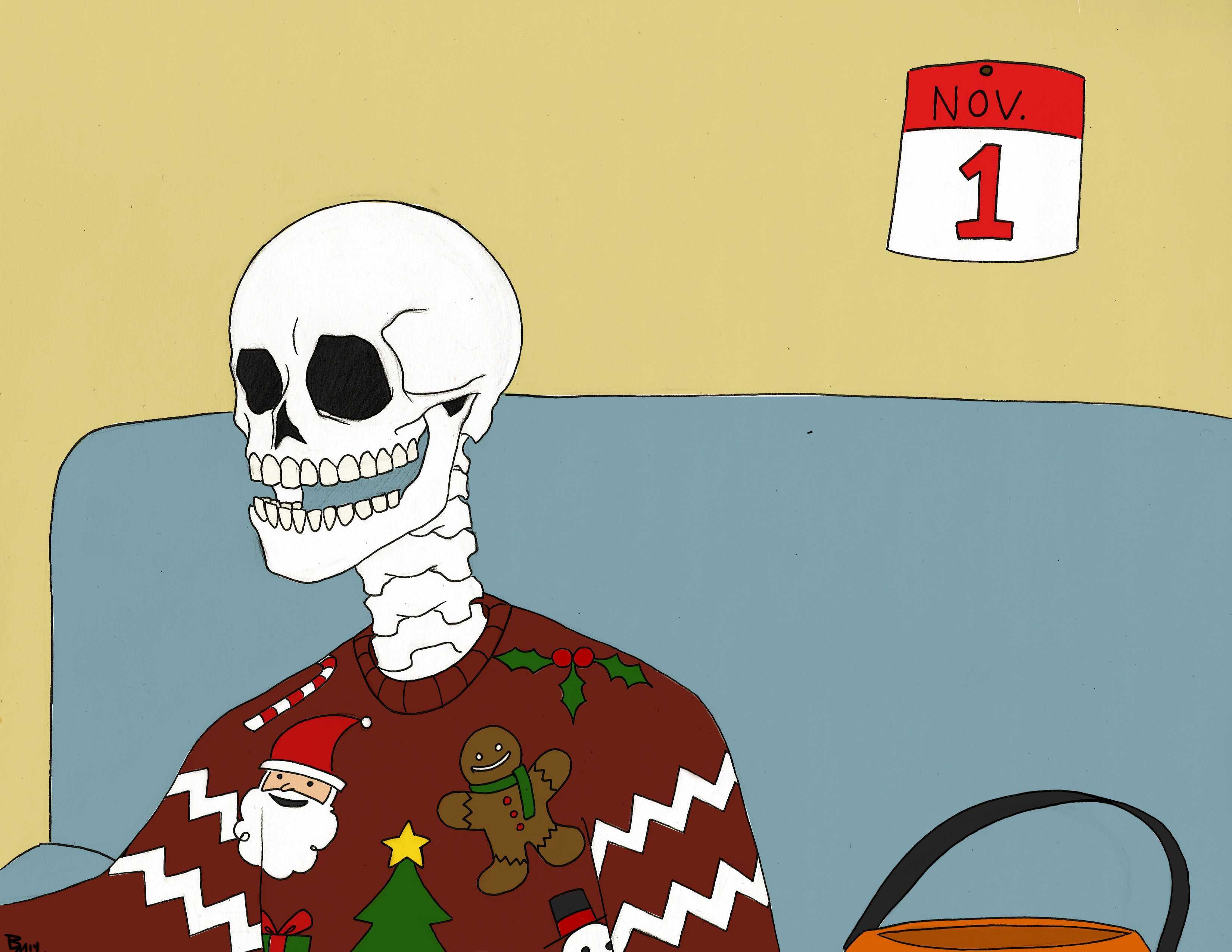 Editorial cartoon: From Halloween to Christmas