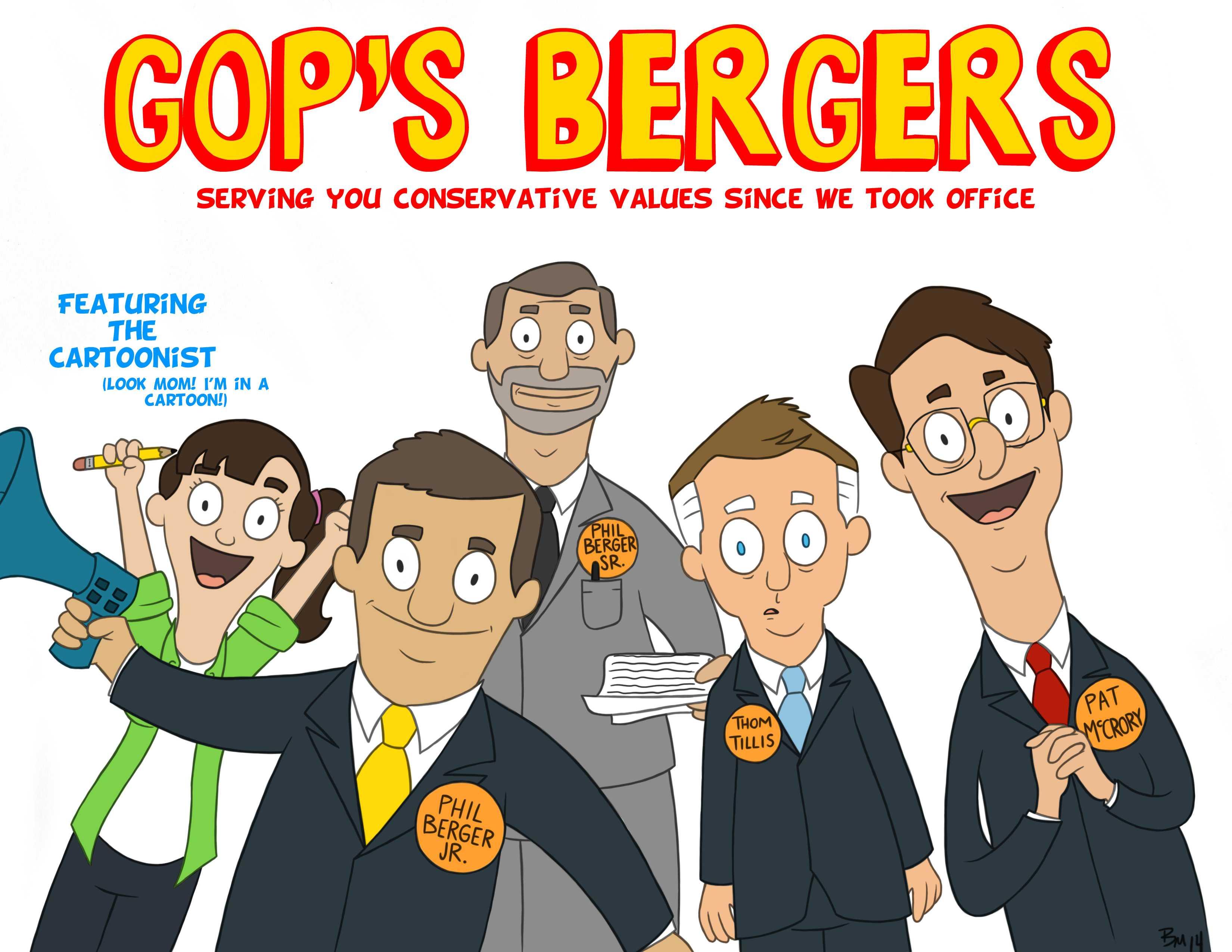 Editorial cartoon: GOP's Bergers