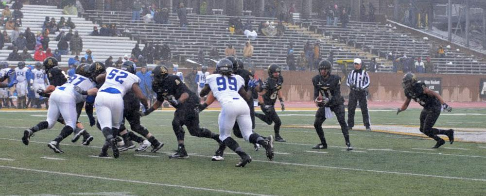 The Mountaineers prevailed over Georgia State University Saturday at Kidd Brewer Stadium 44-0. Photo by Cara Croom  |  The Appalachian