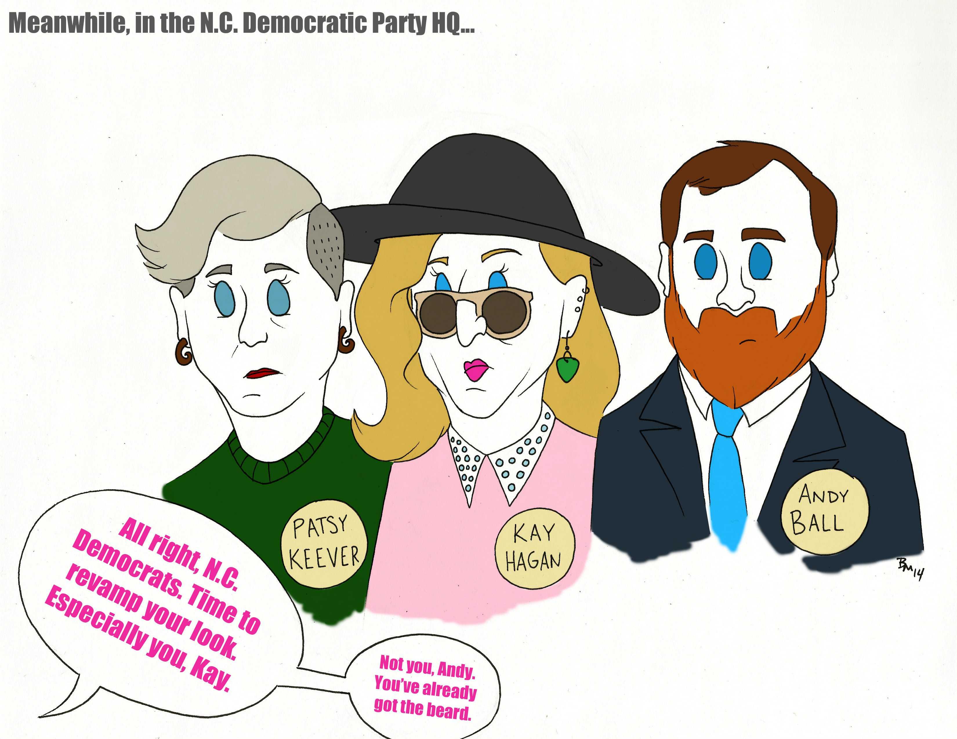 Editorial cartoon: New look for the Democrats