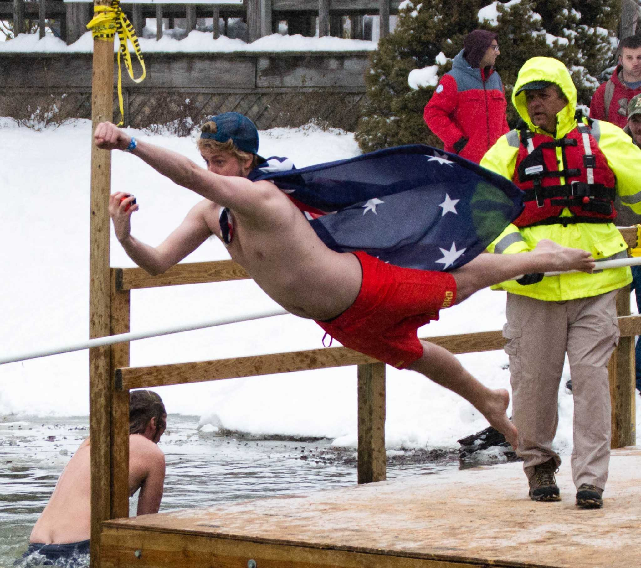 Students plunge into Duck Pond for Special Olympics