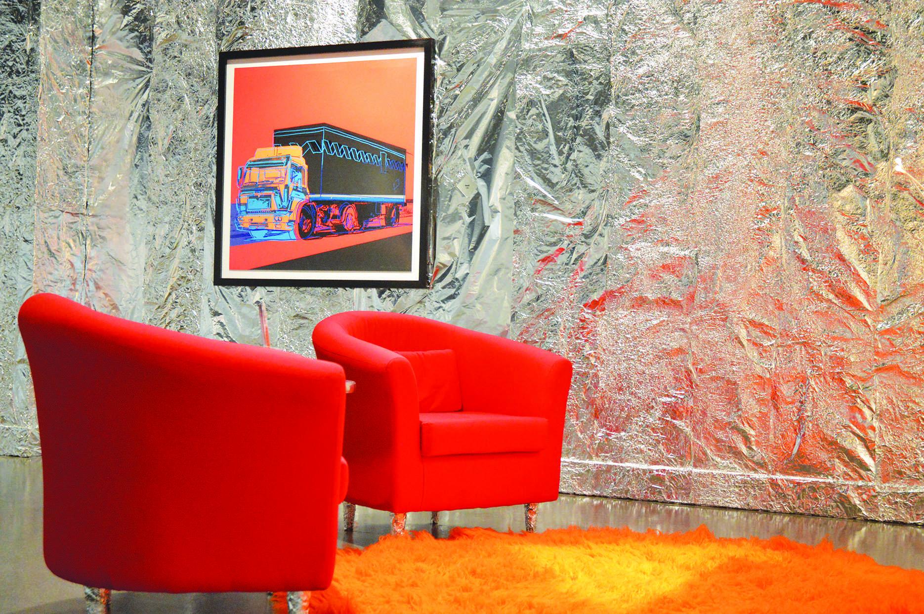 Turchin mimics 'Silver Factory' with Warhol display