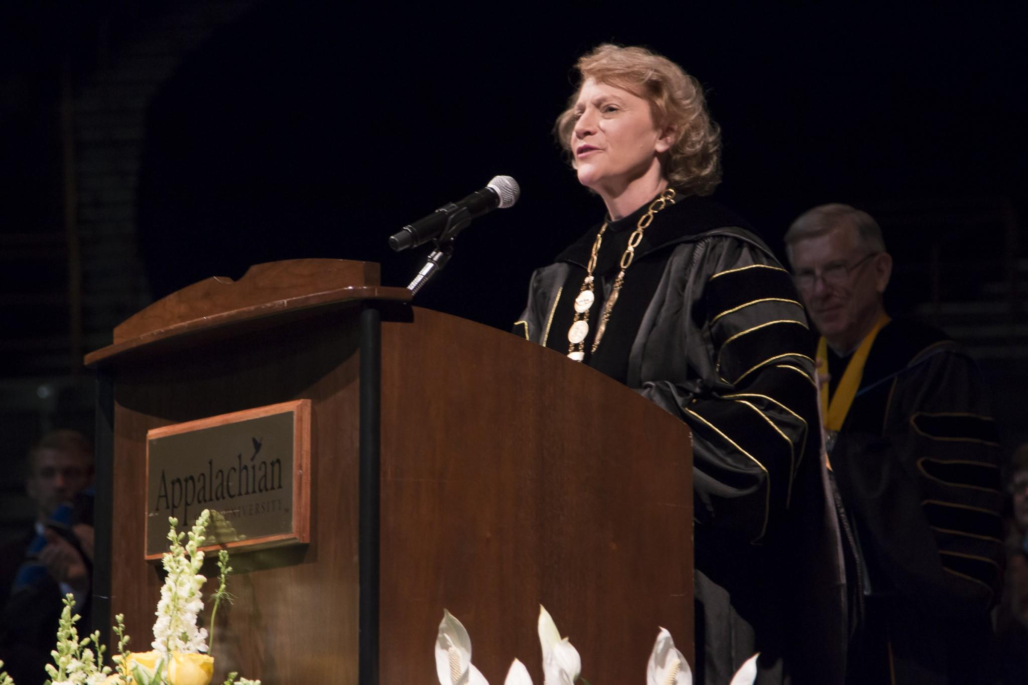 Everts installed as seventh chancellor, McCrory announces nursing school funding