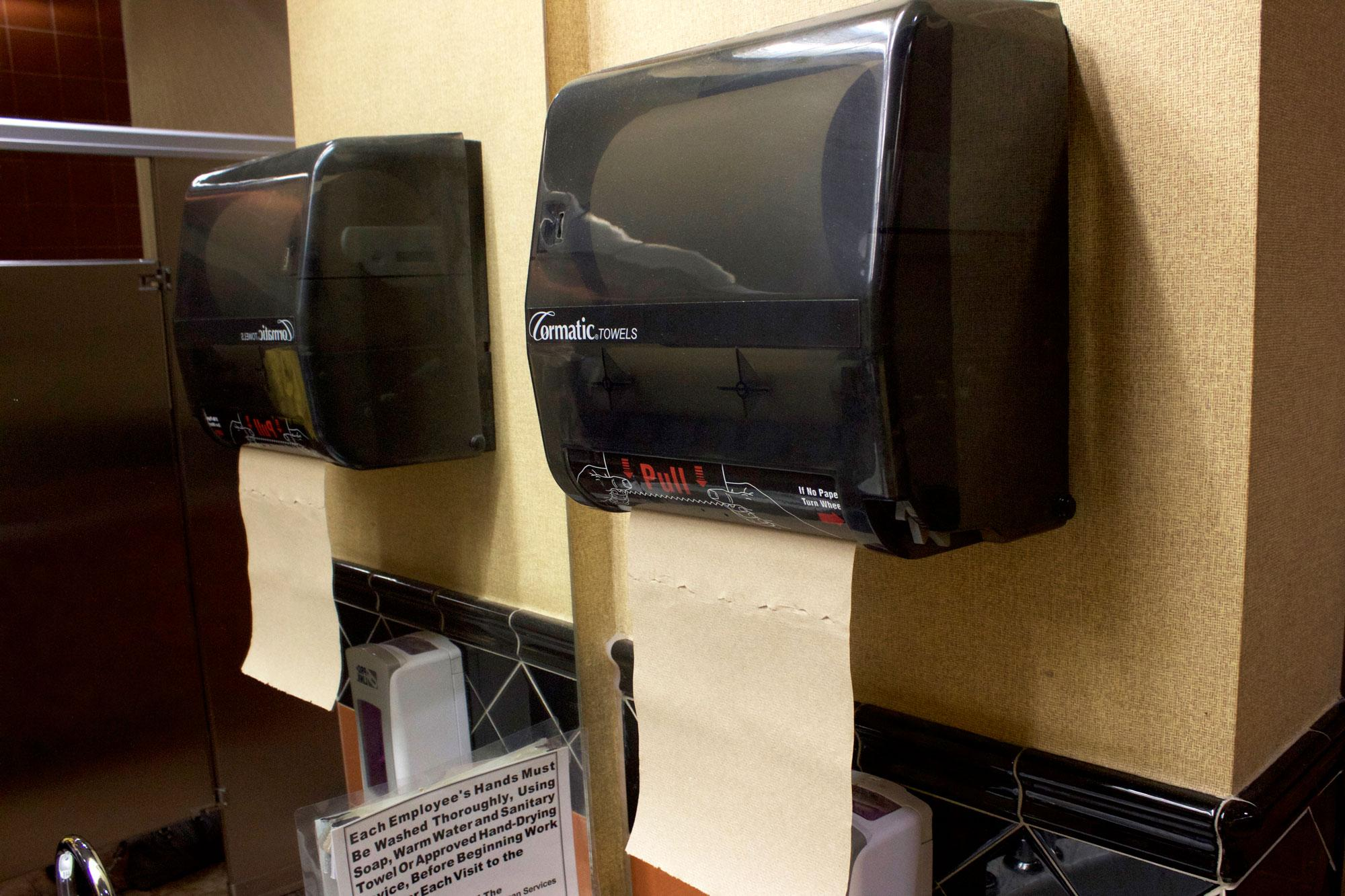 Paper towel dispensers return to Student Union