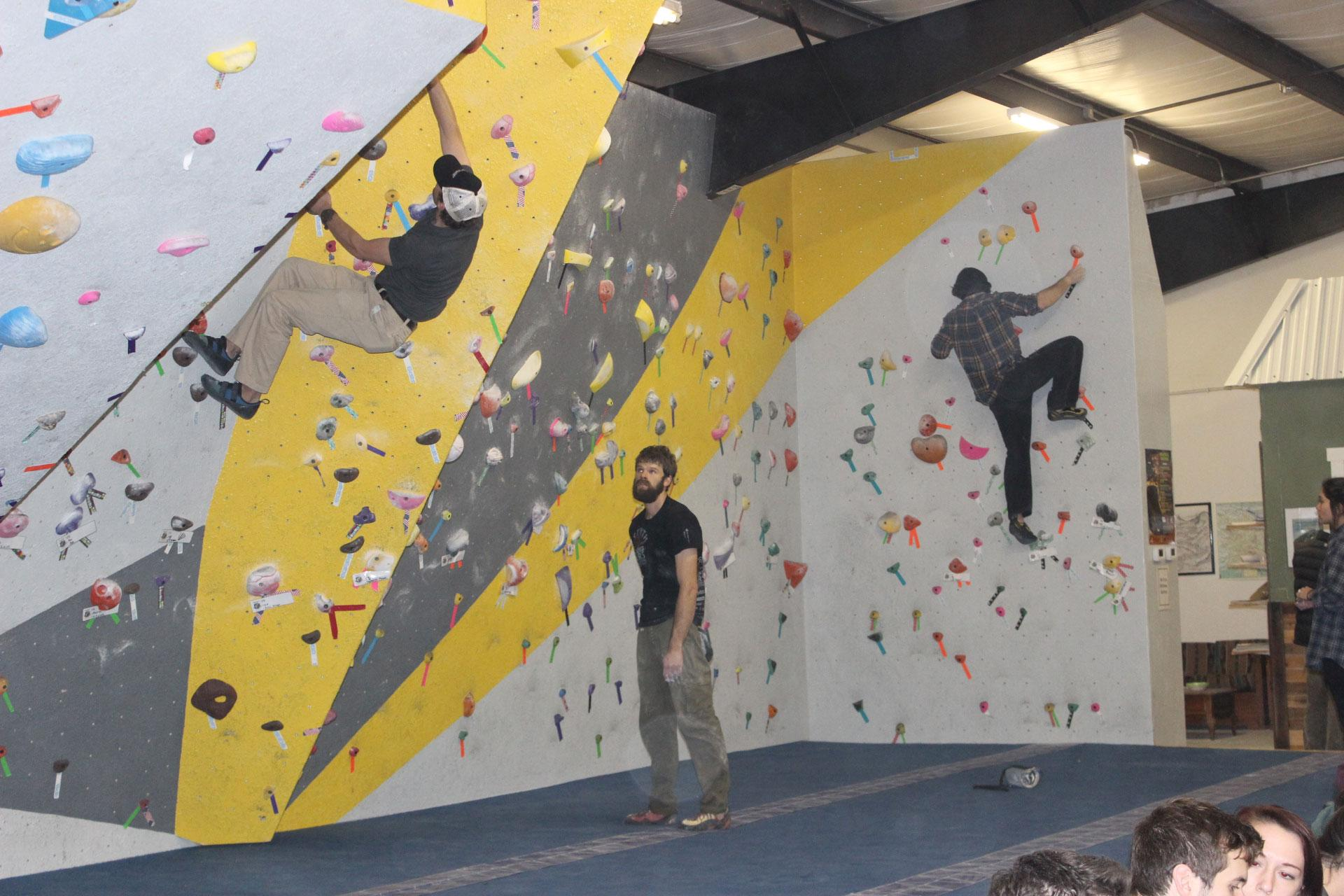 Center 45, a new rock climbing and fitness center, held its grand opening on Saturday. The center was created in an effort to provide a space for individuals to practice bouldering and encourage responsible bouldering in the Boone area.