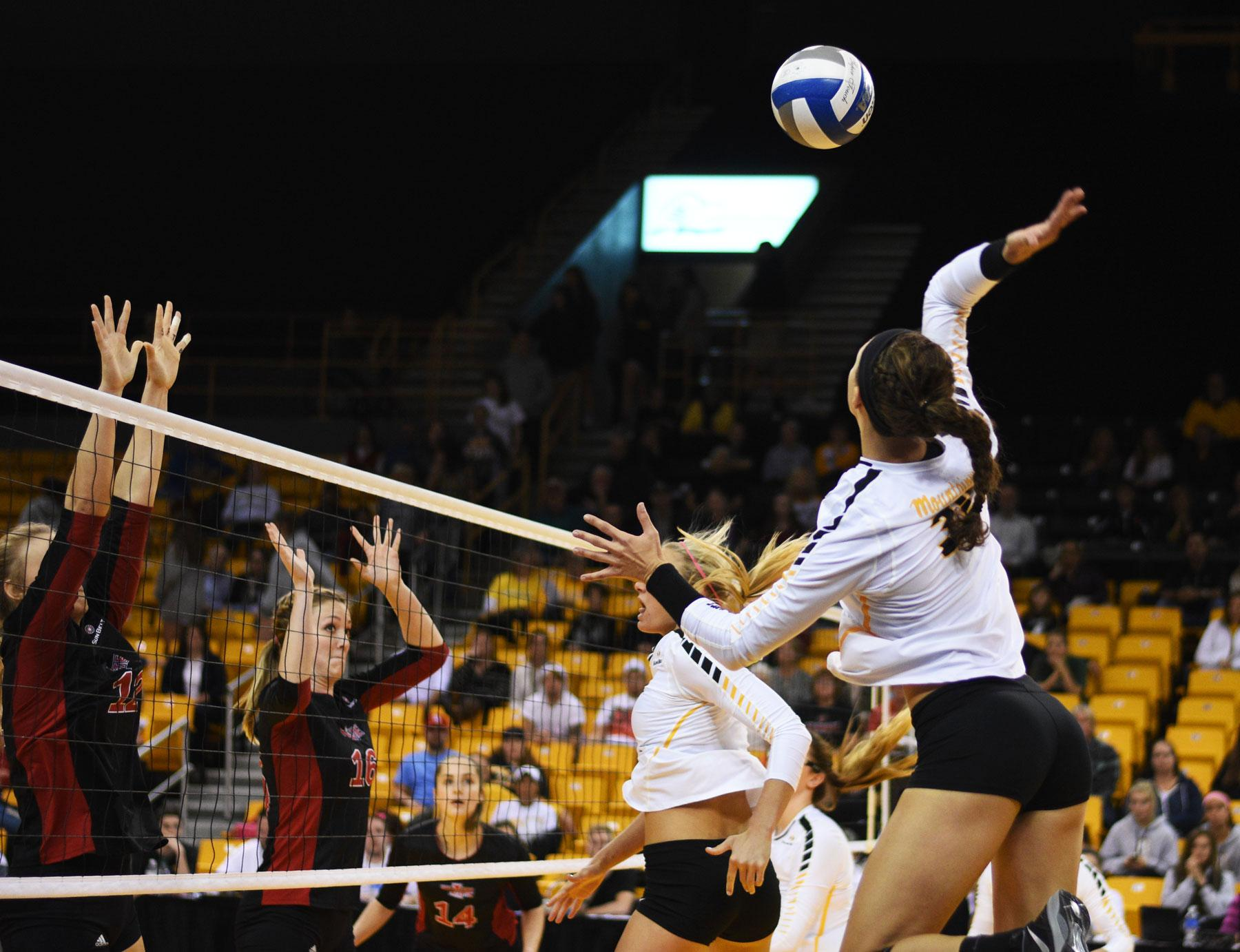 App State volleyball digging deep