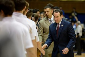 Duke's Coach K has led the Blue Devils to 129 straight non conference home games