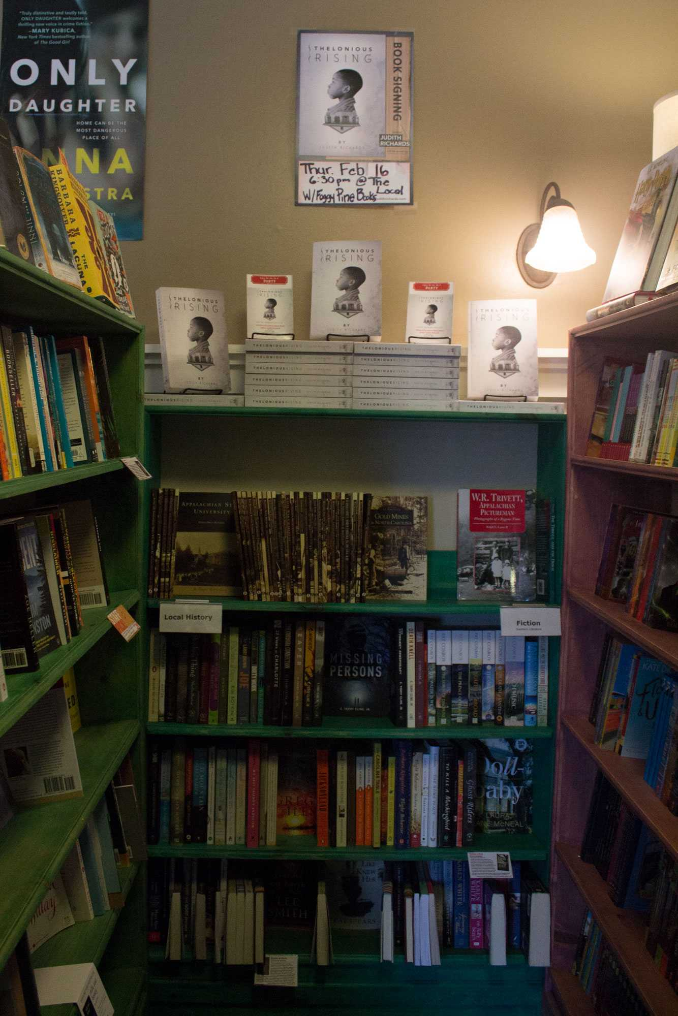 Foggy Pines Bookstore features local authors and their books, and is hosting a book signing on February 16 in conjunction with The Local.