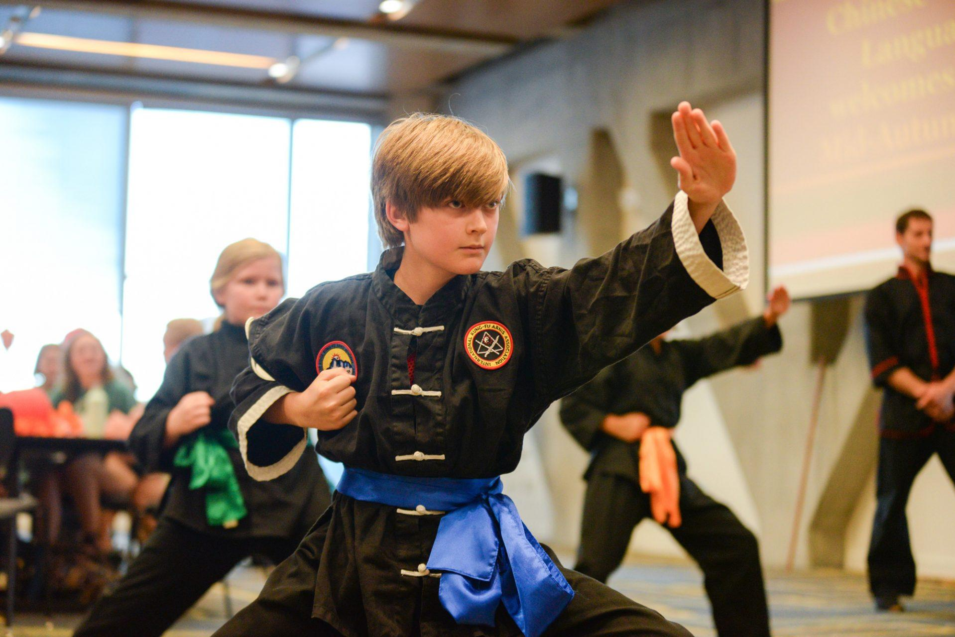 Blue Ridge Kung Fu Academy presents martial arts forms and exercises at the Mid-Autumn Festival on Tuesday, Sept. 26.
