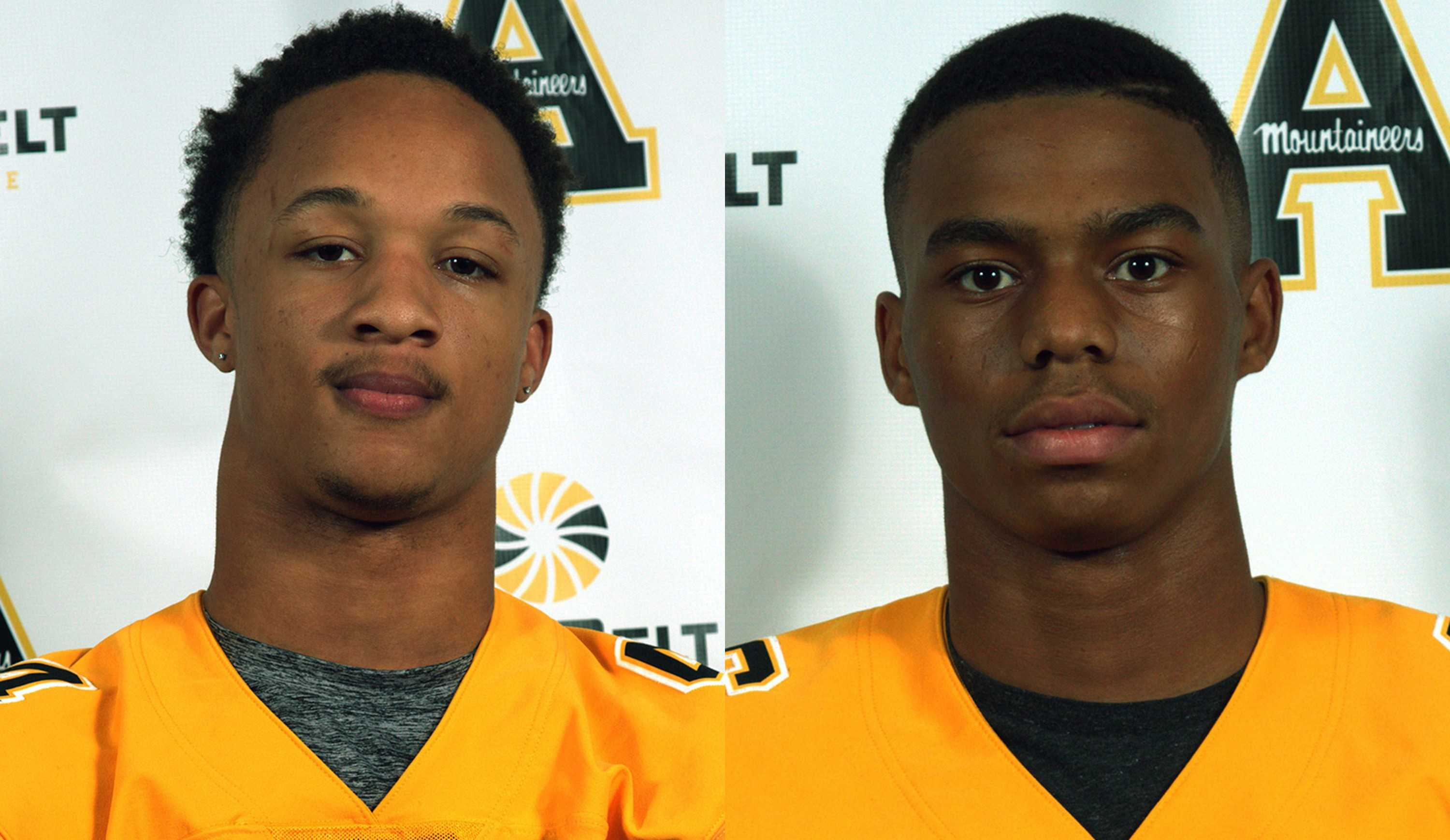 Clifton Duck (left) and Aris Duffey (right) are App State football's newest recruits. Duffey is rated as a three-star prospect and Duck is rated as a two-star prospect by Scout.com and 247Sports.com. Photo courtesy of Appalachian State Football.