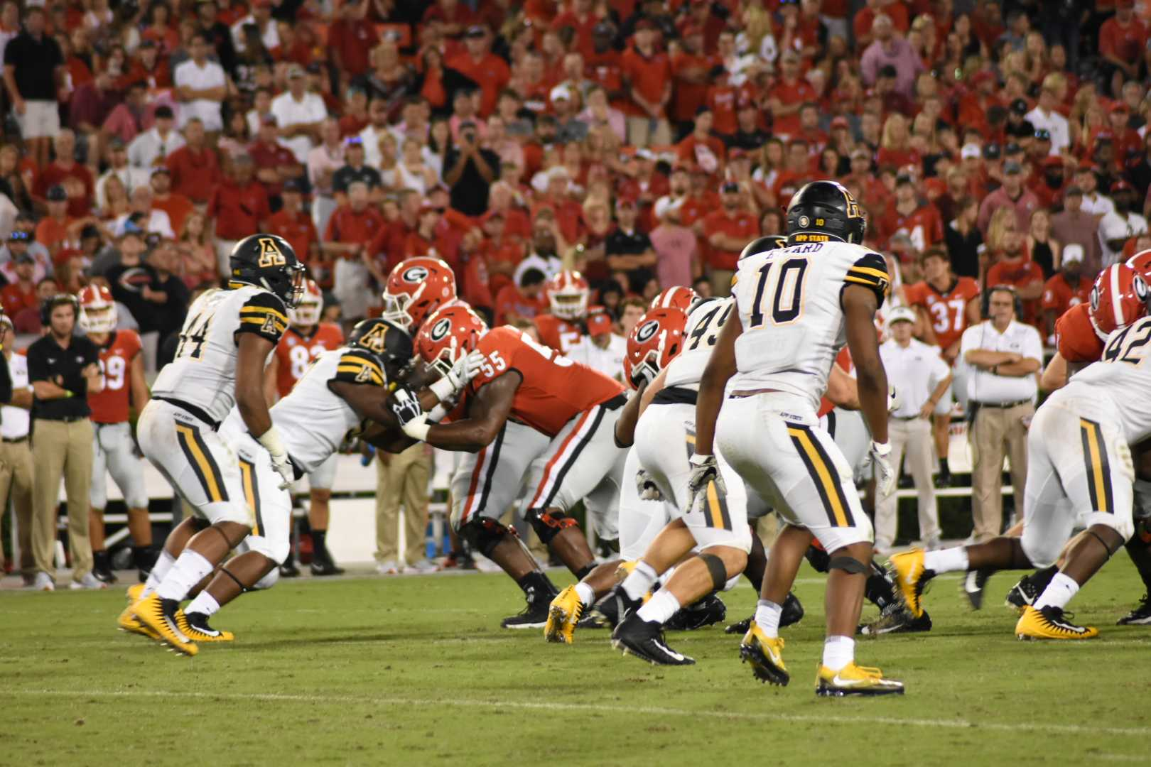 App State fell to Georgia 31-10 on Saturday evening in a game broadcasted on ESPN