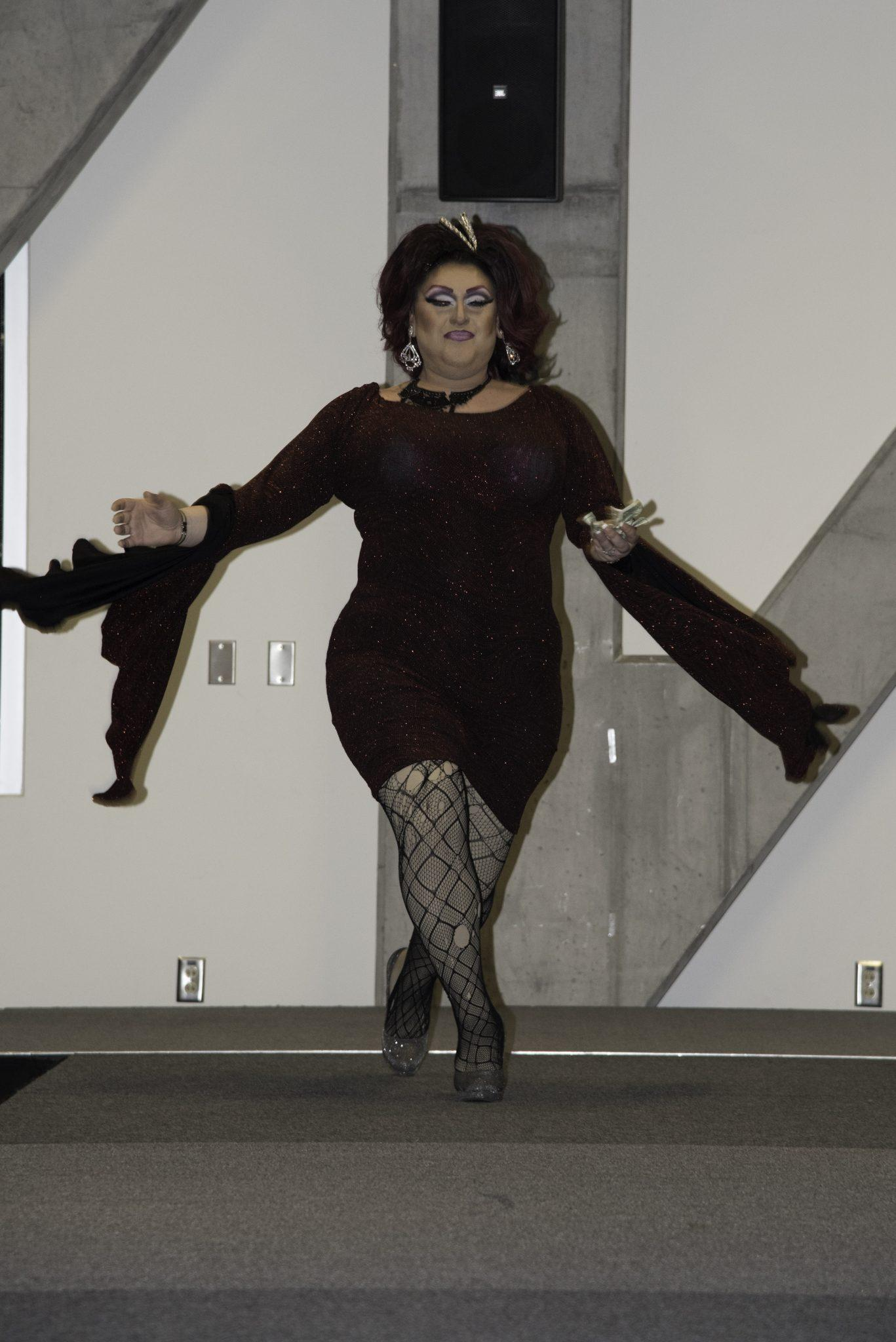 Drag queen Courtney Nicole WildFrost performing at the Diversity Celebration DragShow. The event was a part of Appalachian State's Diversity Celebration and featured a performance by Stacy Layne Mathews of season 3 of Rupaul's Drag Race.