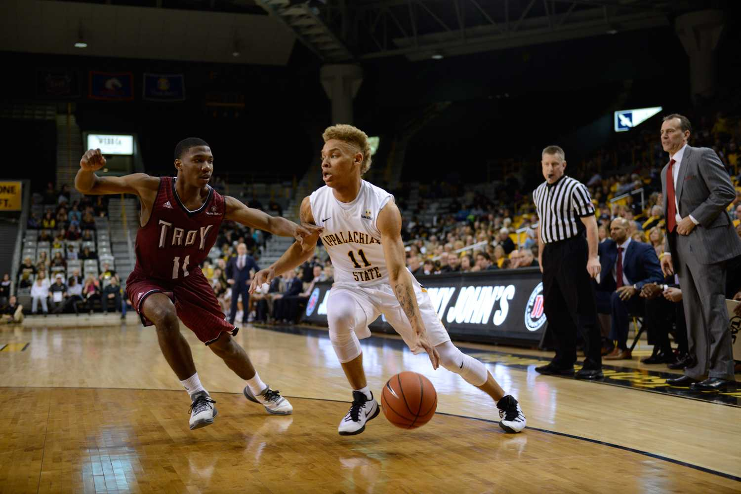 Biggest crowd of the season helps propel App to victory