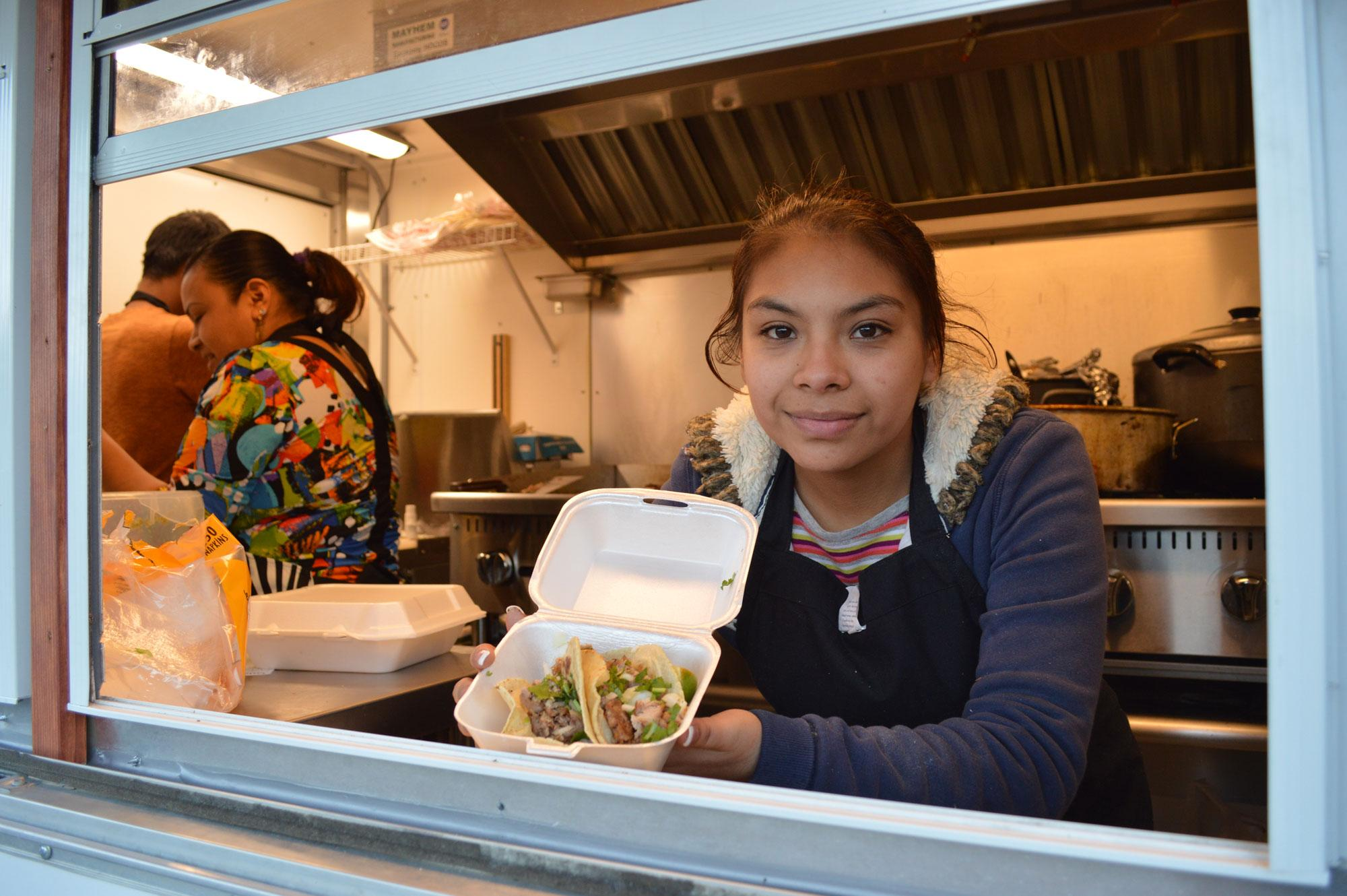 Miriam Hernandez opened the Taco King Taqueria last July and serves customers authentic Mexican food from her mother's recipes.