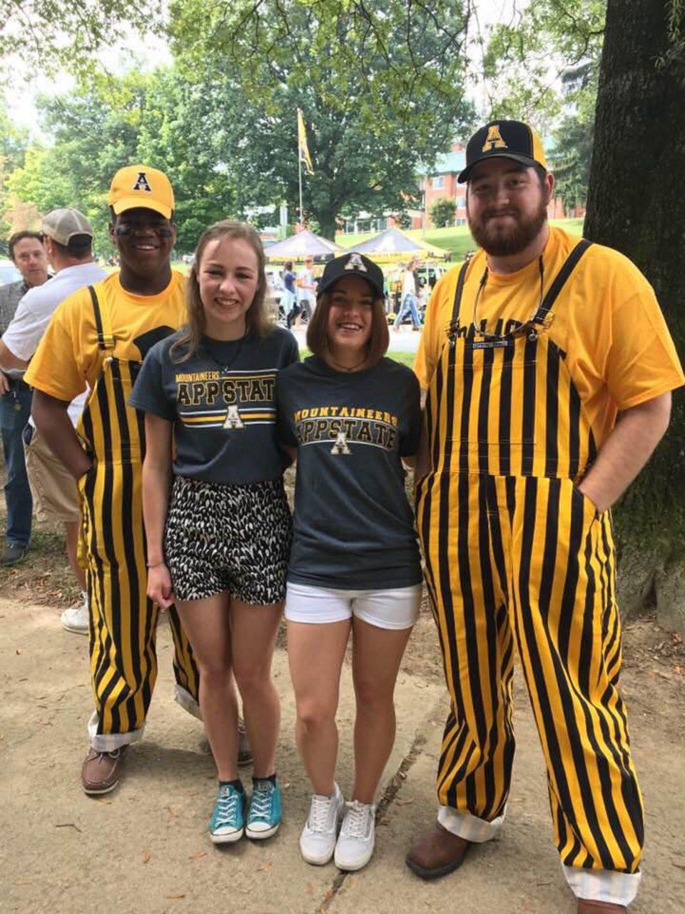 Senior+Annika+Sharard+from+Australia+and+junior+Mae+M%C3%BCller+from+Germany+experiencing+their+first+Appalachian+State+football+game+as+international+students.