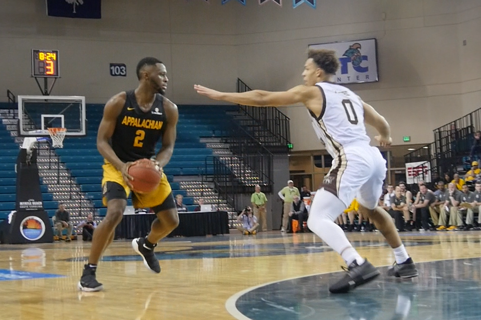 Junior guard Ronshad Shabazz once again led the Mountaineers with 25 points
