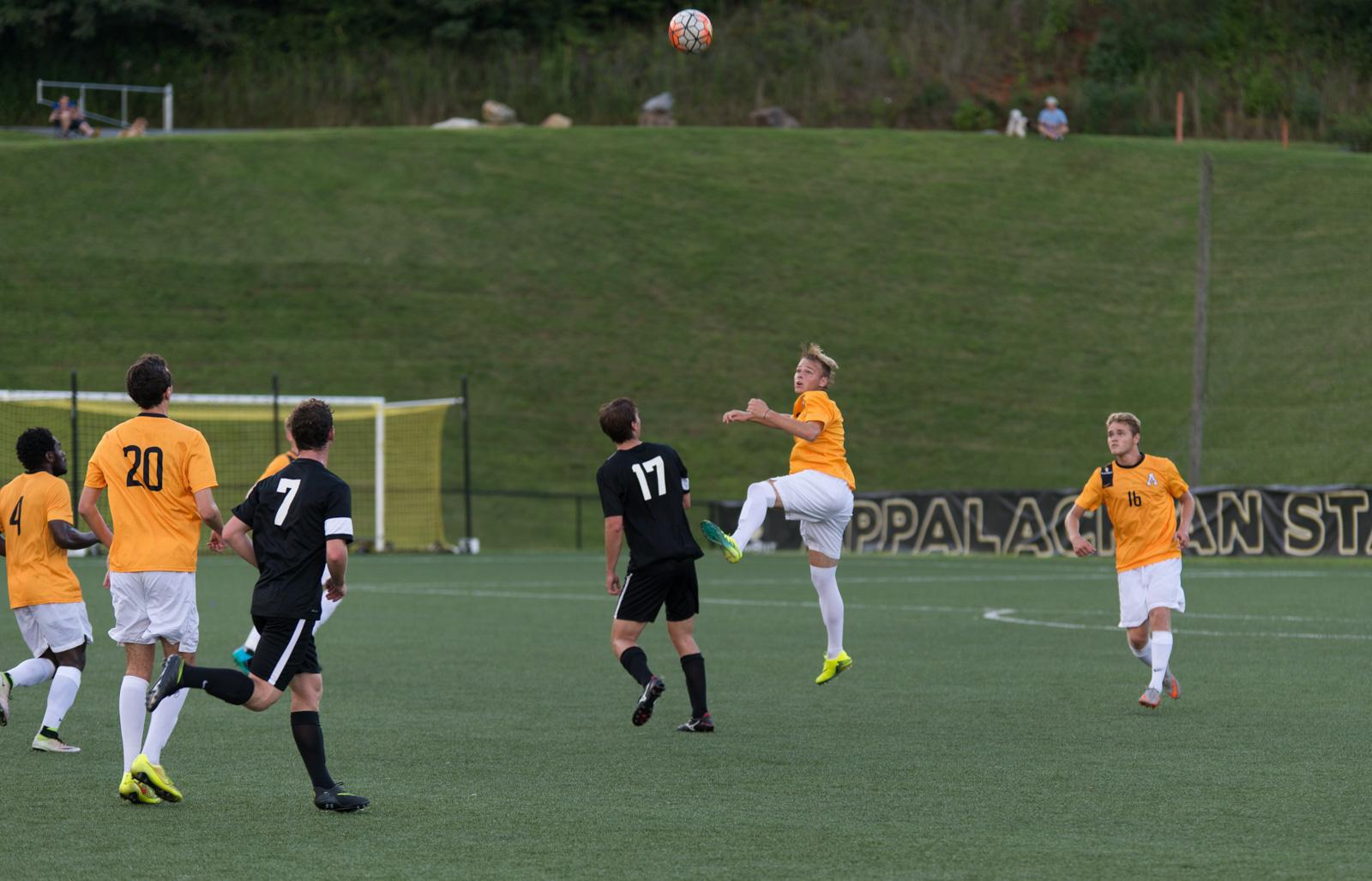 Men's soccer hold black and gold exhibition