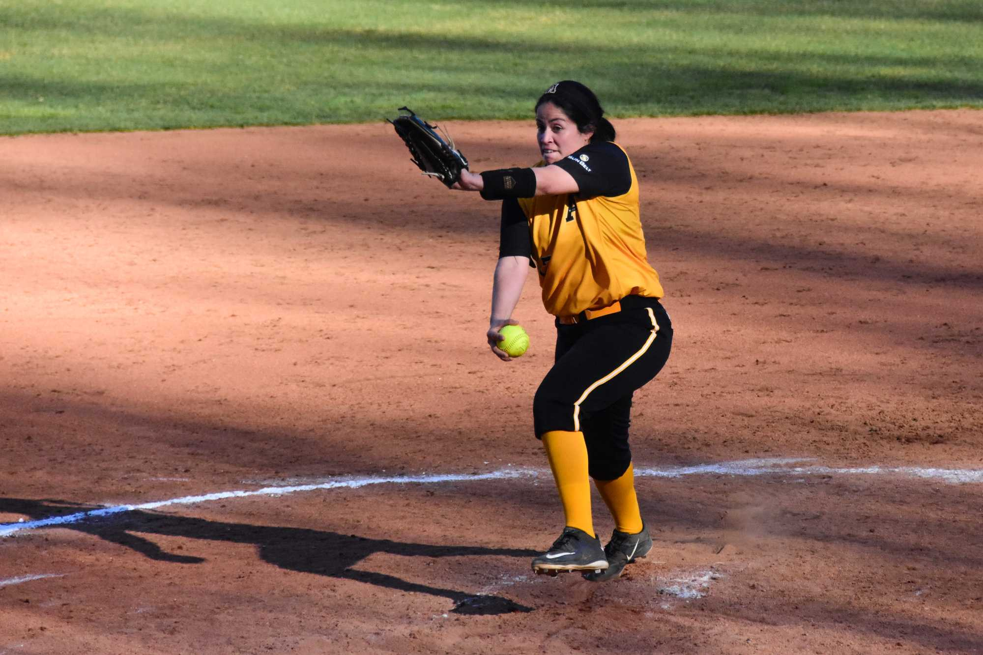Junior pitcher Vanessa Ciocatto winds up a pitch on Tuesday's game against Morehead State. The game resulted in a 0-7 loss for App State.
