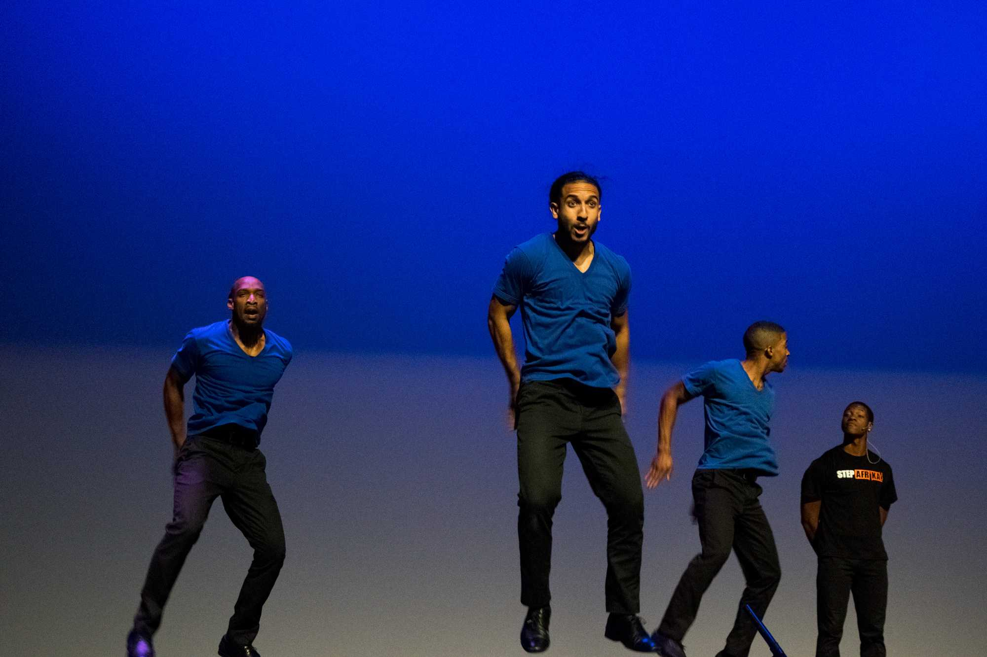 Step Afrika! Introduces students to the art of stepping
