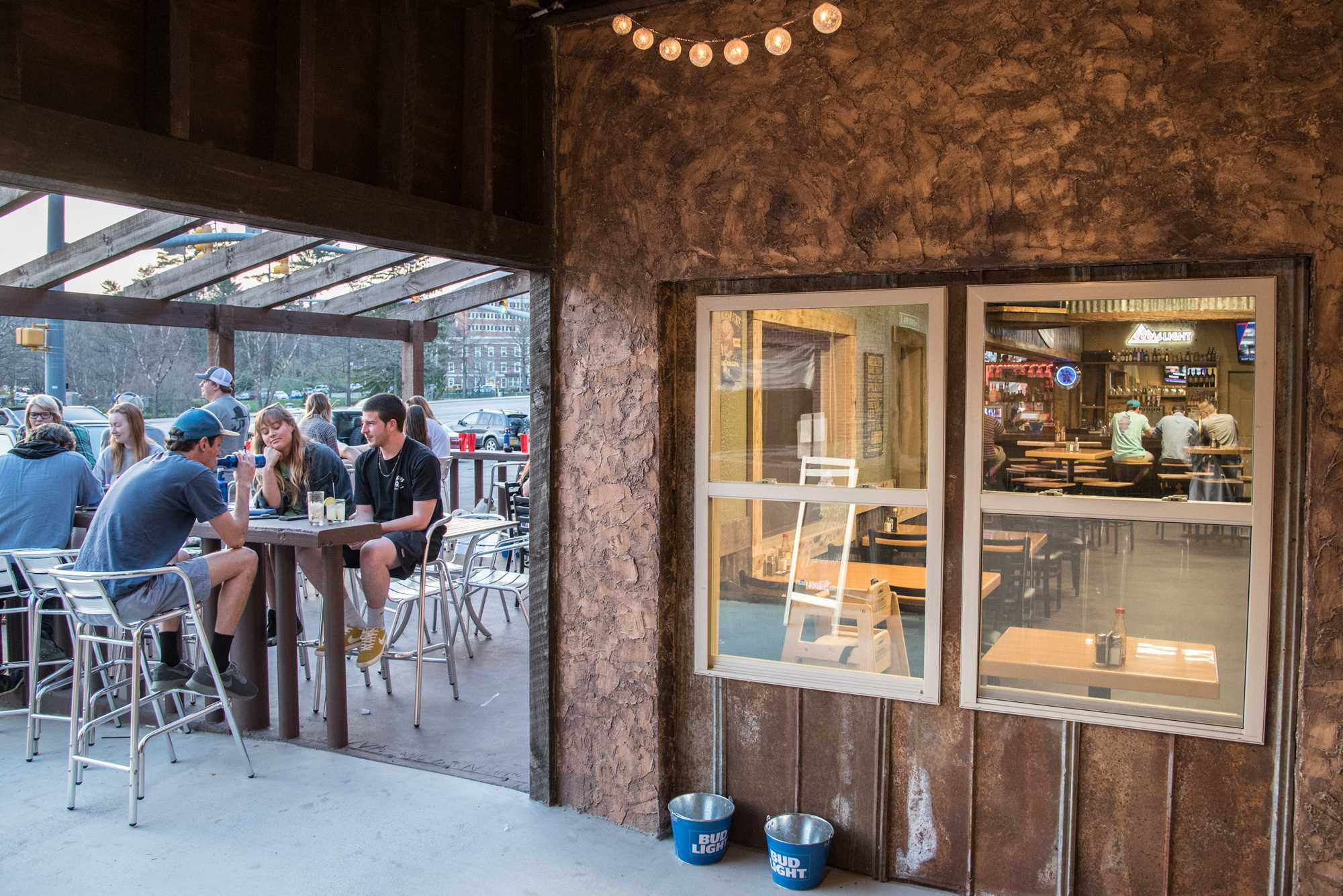 People can enjoy food and drinks outside as well as inside of Tank's Tacos y Tequilla.