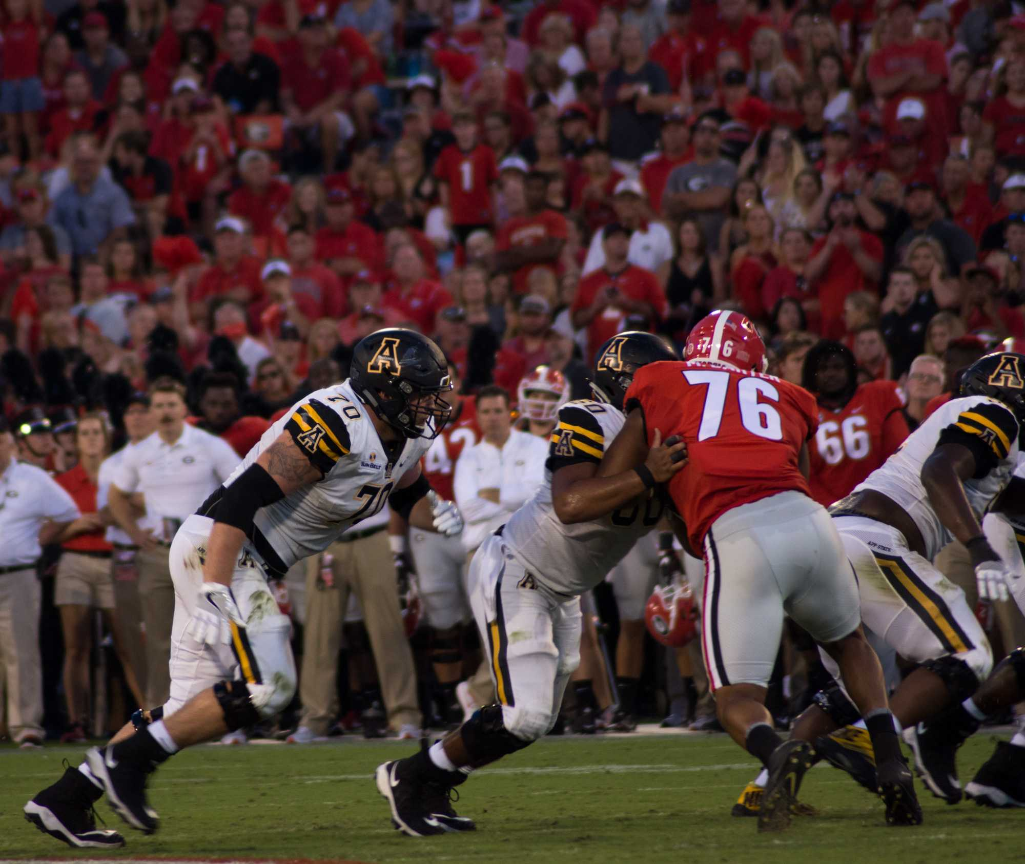 Senior experience mixed with talented youth: A look at App's offensive line