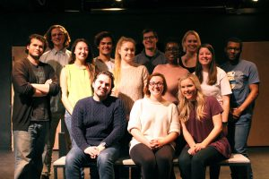 """""""Phyllis Kugler, Eat Your Heart Out"""" cast and crew. Opening night for the production is Thursday, February 9th."""