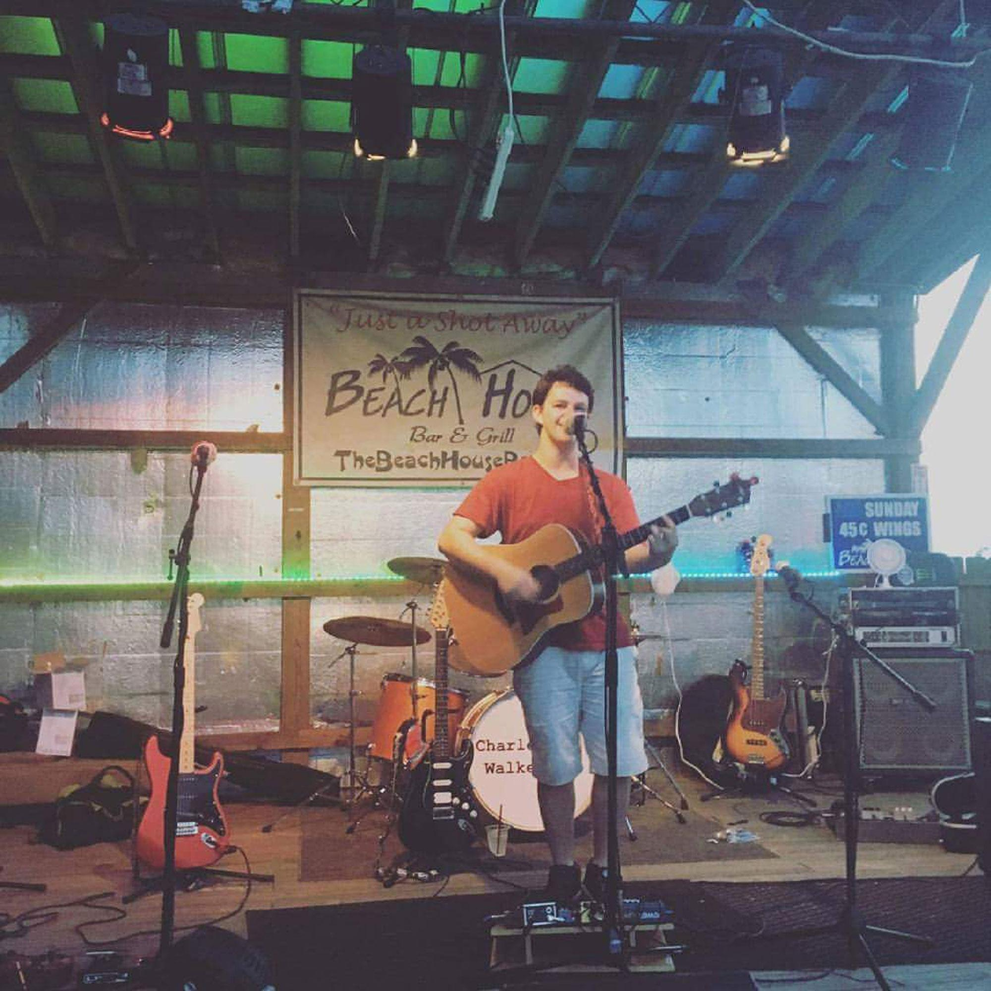 Charles+Walker+performing+in+Wilmington.+He+is+a+sophomore+communications+major+at+Appalachian+State+and+is+a+touring+singer-songwriter.