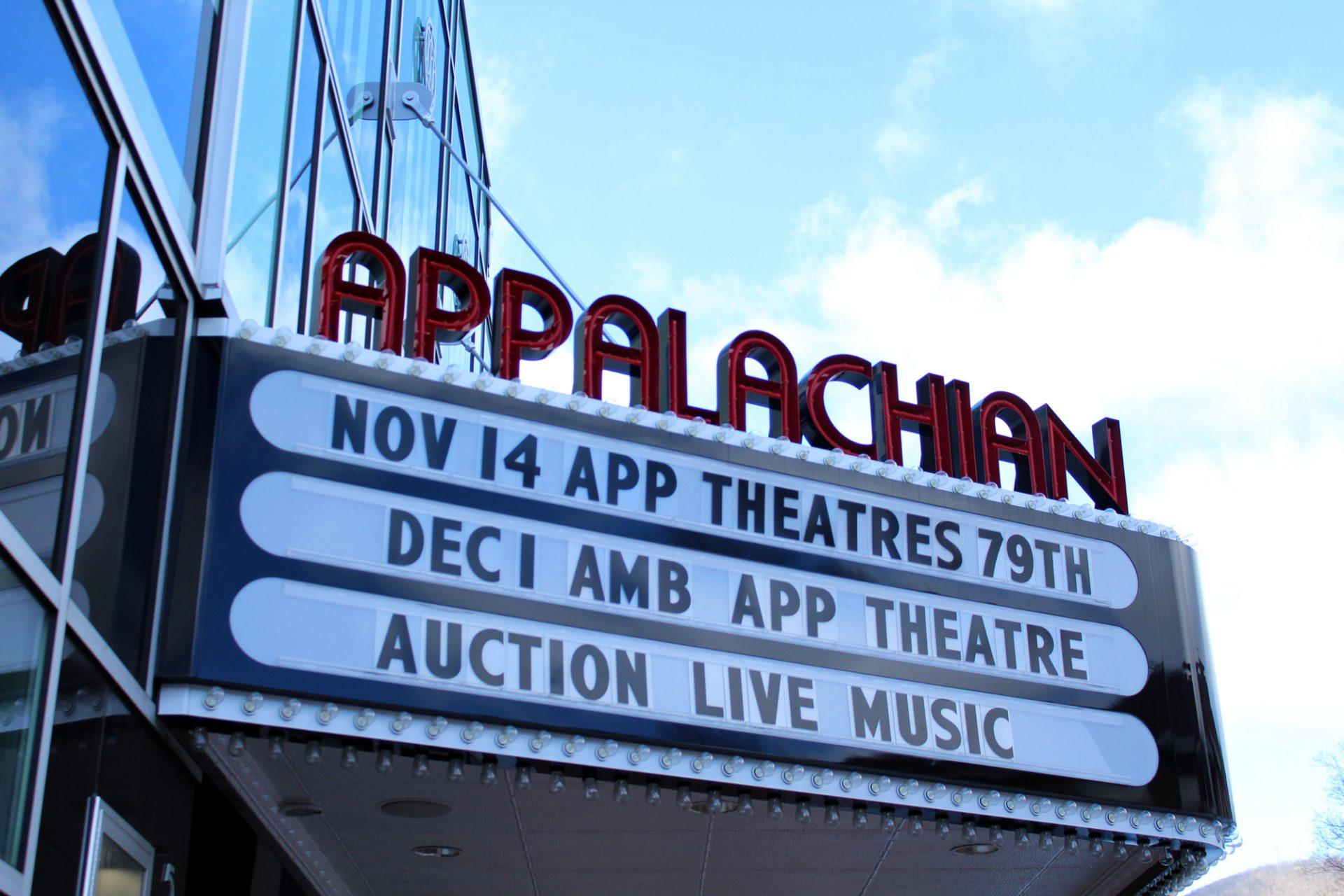 The+Appalachian+Theatre%27s+marque.+The+Theatre+has+been+a+historic+symbol+of+Boone+for+years.+
