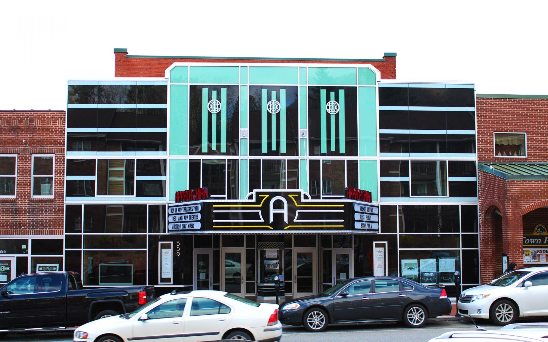 The Appalachian Theatre on King Street. The theatre has been a historical landmark in Boone for decades.