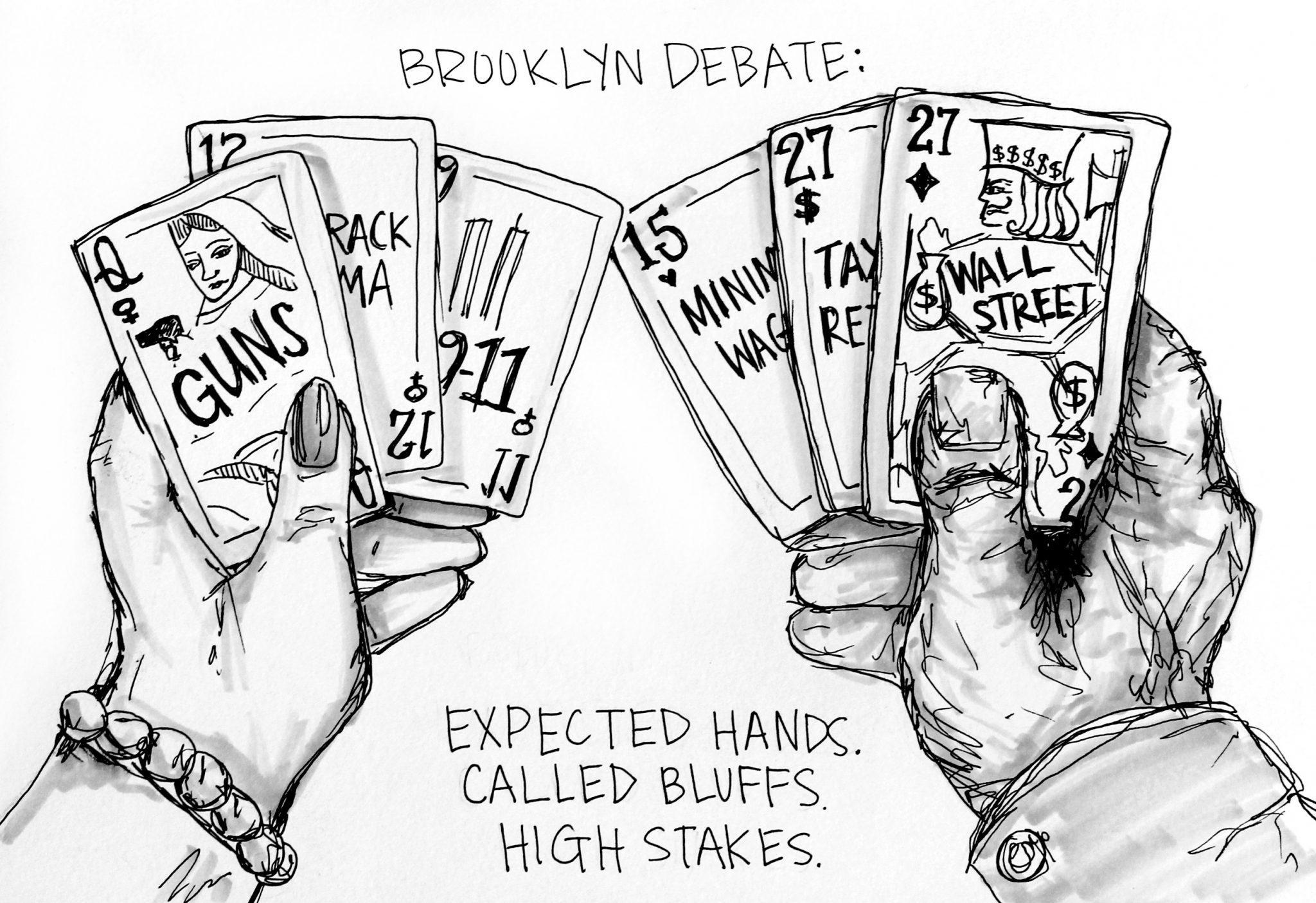 The+Brooklyn+Debate.+Cartoon+by+Emily+Howard.